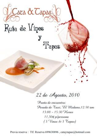 """Descargar el poster aquí! Apreciado sibarita; """"Cata & Tapas"""" organiza el día 22-8-2010 a la 1 del al mediodía un recorrido de sabores, aromas y texturas con una ruta de […]"""